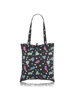 Love me love my dog foldaway tote