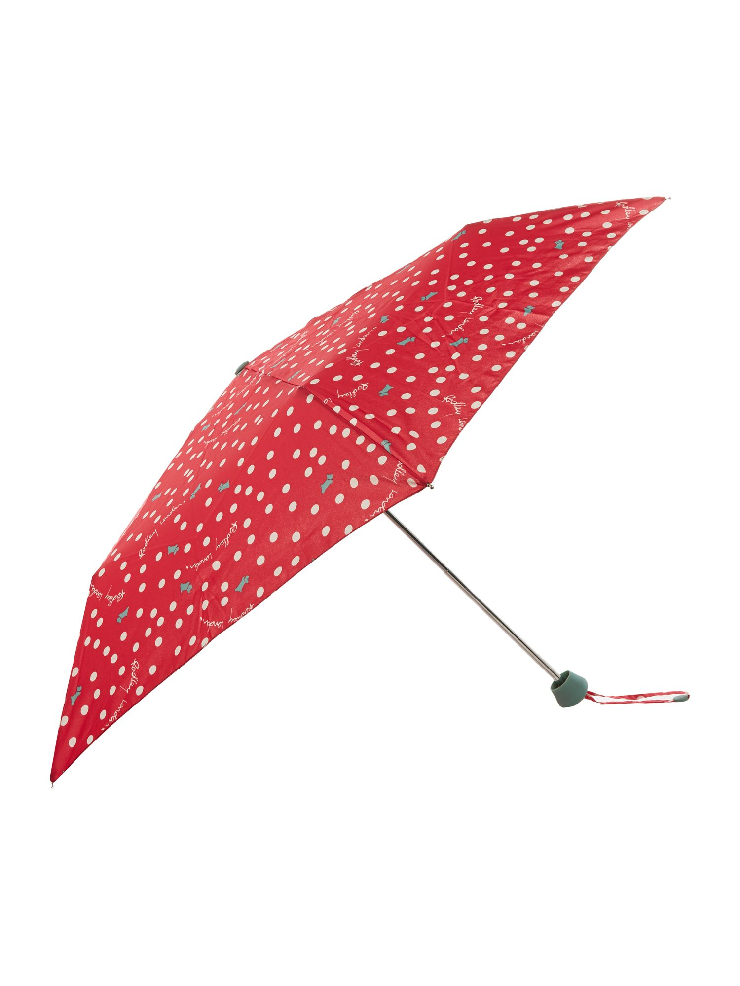 Vintage Style Parasols and Umbrellas Radley Vintage dog dot telescopic umbrella Red £16.10 AT vintagedancer.com
