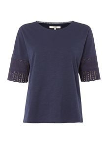 Dickins & Jones Beryl Broderie Jersey Top