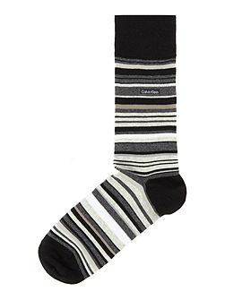 Barcode Multi Stripe Socks