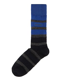 Reverse Jersey Bar Stripe Socks