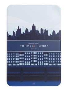 Tommy Hilfiger 5 Pack Stripe and Plain Tin Gift Set