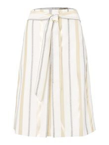 Biba Stripe metallic jacquard belted skirt