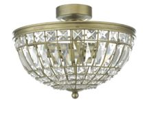 Linea Beata flush crystal ceiling light