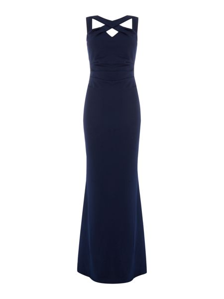 Jessica Wright Sleeveless Cross Over Maxi Dress