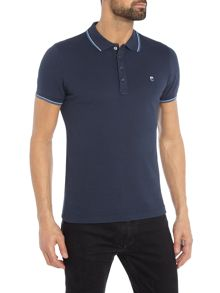 Diesel Regular fit tipped collar logo polo shirt