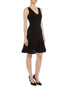 Michael Kors Sleeveless lace fit and flare dress
