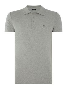 Diesel Regular fit slub logo polo shirt