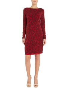 Michael Kors Long sleeve umbria lace border dress