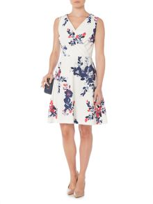 Dickins & Jones Grace Cotton Printed Fit and Flare Dress