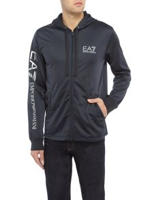 EA7 Train Logo-Series Zip-Through Hooded Jumper