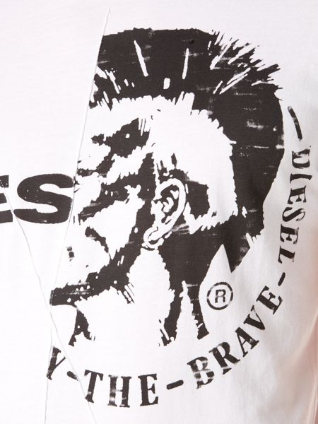 Diesel Mohican graphic logo t-shirt