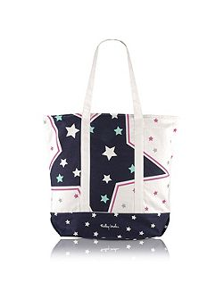 Night shift large zip top tote bag