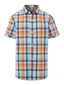 Howick Junior Boys Short Sleeve Bright Check Shirt