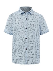 Howick Junior Boys Short Sleeve Printed Shirt