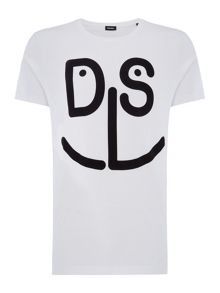 Diesel Smile logo crew neck t-shirt