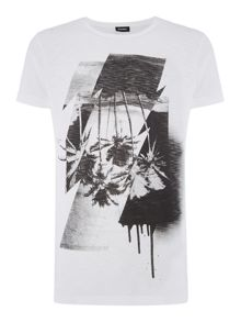 Diesel Diego slub graphic crew neck t-shirt