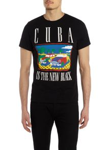 Diesel Cuba graphic crew neck t-shirt