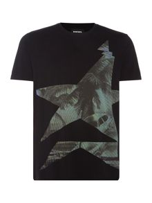 Diesel Palm tree graphic crew neck t-shirt