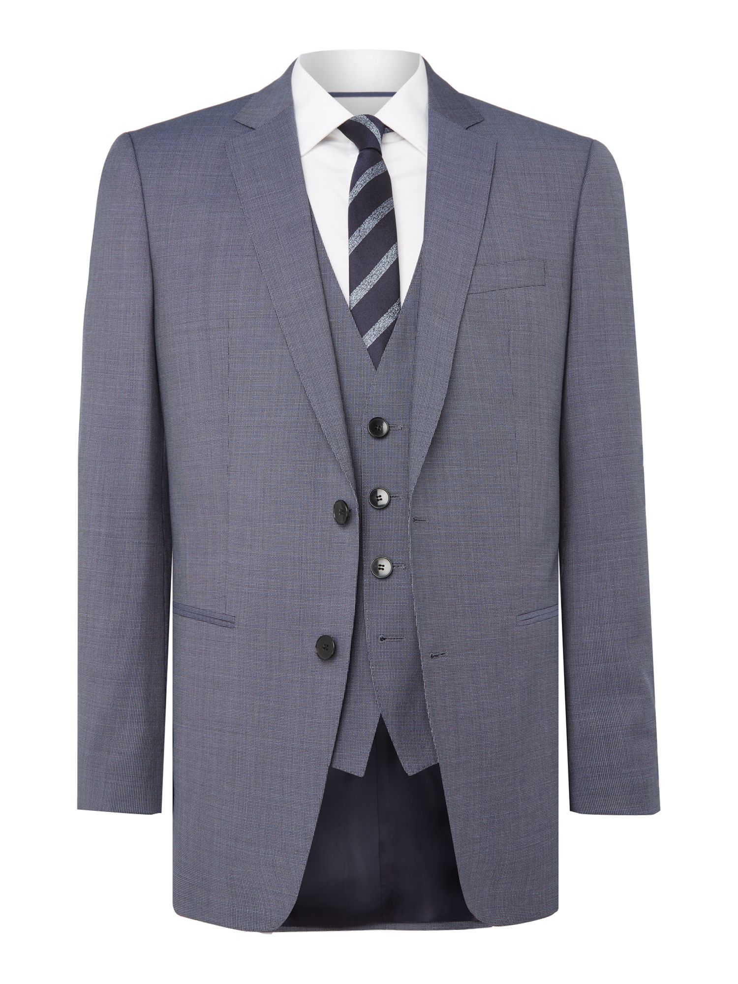 Men's Hugo Boss Textured Notch Collar Slim Fit Suit, Light Blue