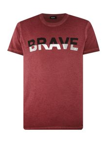 Diesel Brave graphic crew neck t-shirt