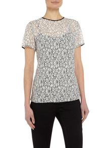 Michael Kors Short sleeve lace t shirt