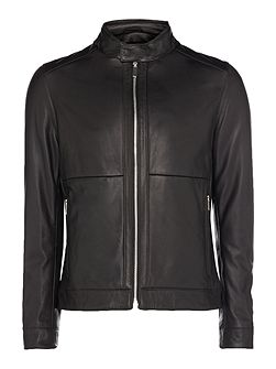 Nortilo lambskin leather napa biker jacket