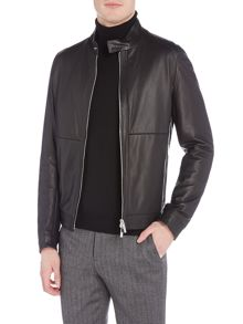 Hugo Boss Nortilo lambskin leather napa biker jacket