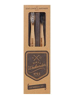 2 Pack Bamboo Natural Tooth Brushes