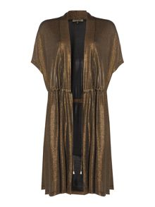 Biba Tie waist throw on jersey cardigan