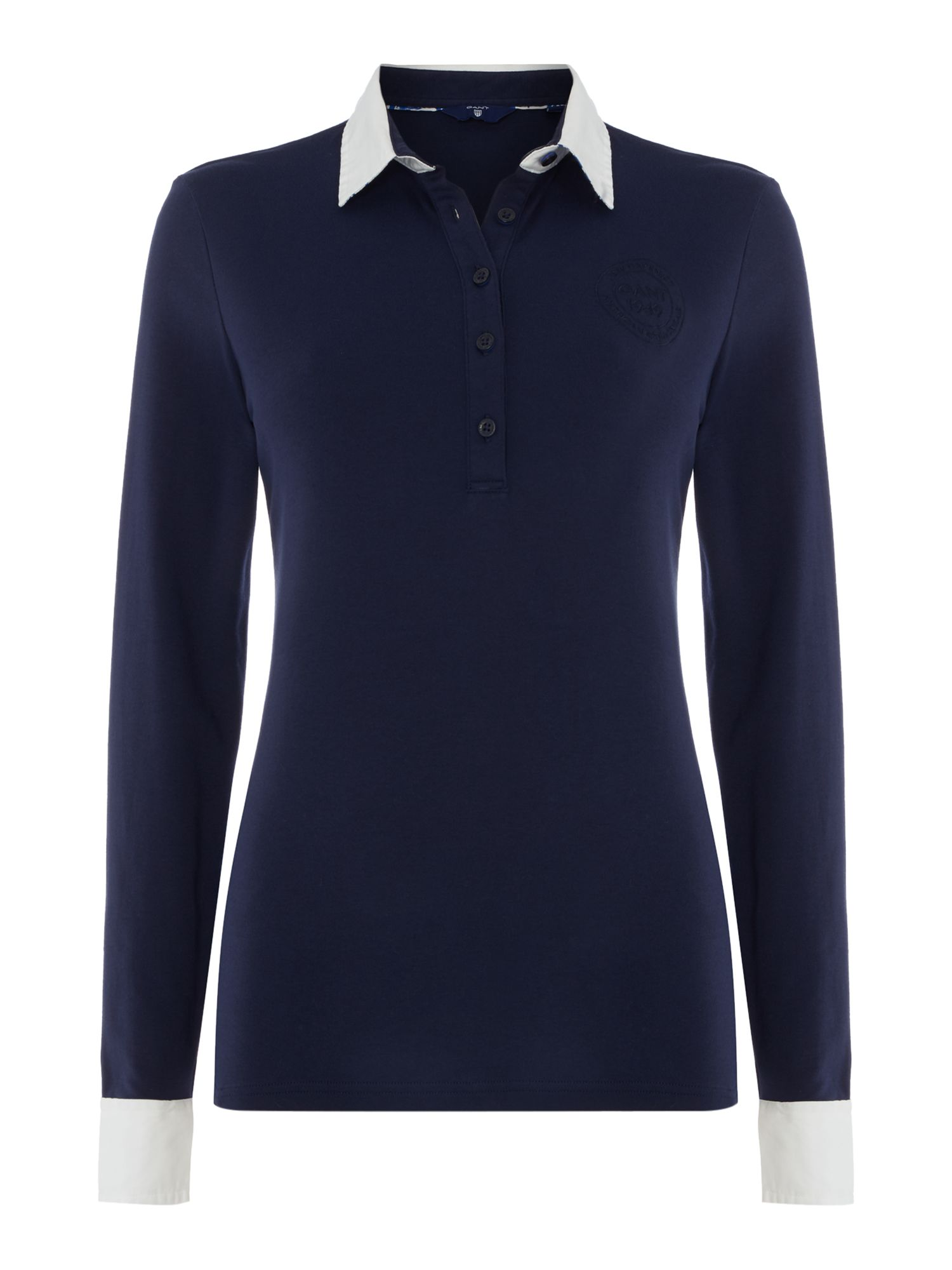 Gant Long sleeve rugby jersey, Blue