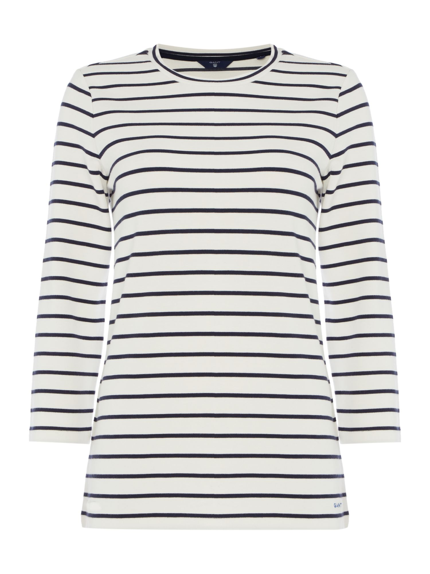 Gant Stripe top, Off White