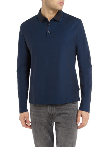 Hugo Boss Pado 5 regular fit long-sleeve mercerised polo