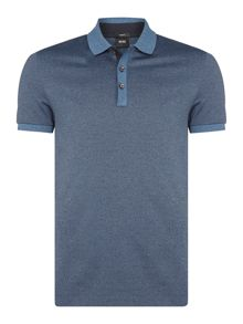 Hugo Boss Phillipson 7 slim fit salt and pepper polo
