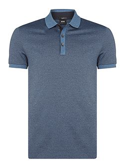 Phillipson 7 slim fit salt and pepper polo