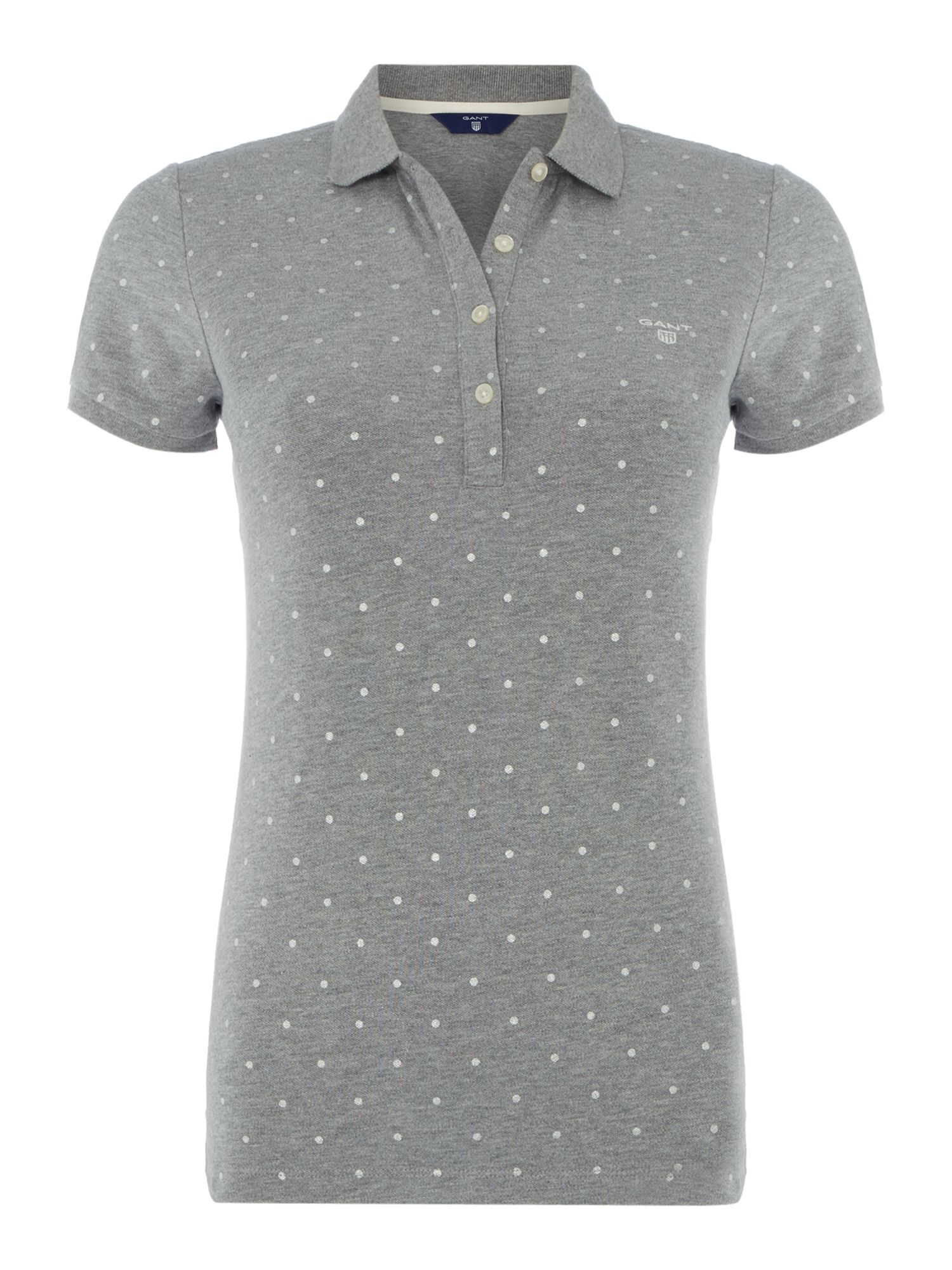 Gant Polka dot polo top, Dark Grey