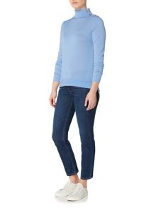 Gant Button mock neck jumper