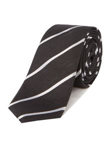 Selected Homme Silk Stripe Tie