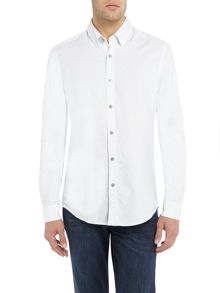 Hugo Boss Lukas 37 long-sleeve dobby shirt