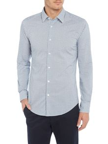 Hugo Boss Ronni 32F gingham checked shirt