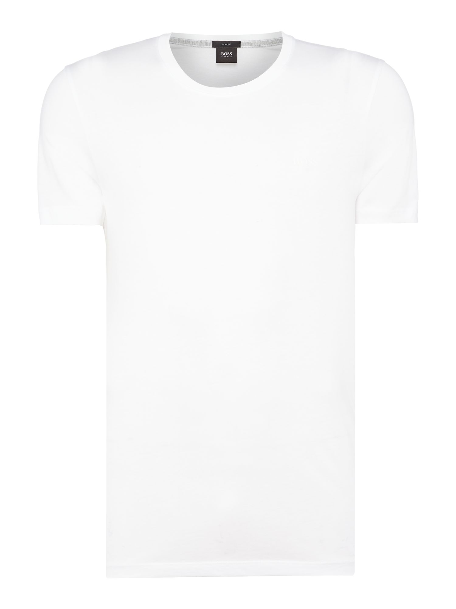 Men's Hugo Boss Tessler crew neck liquid cotton logo t-shirt, White
