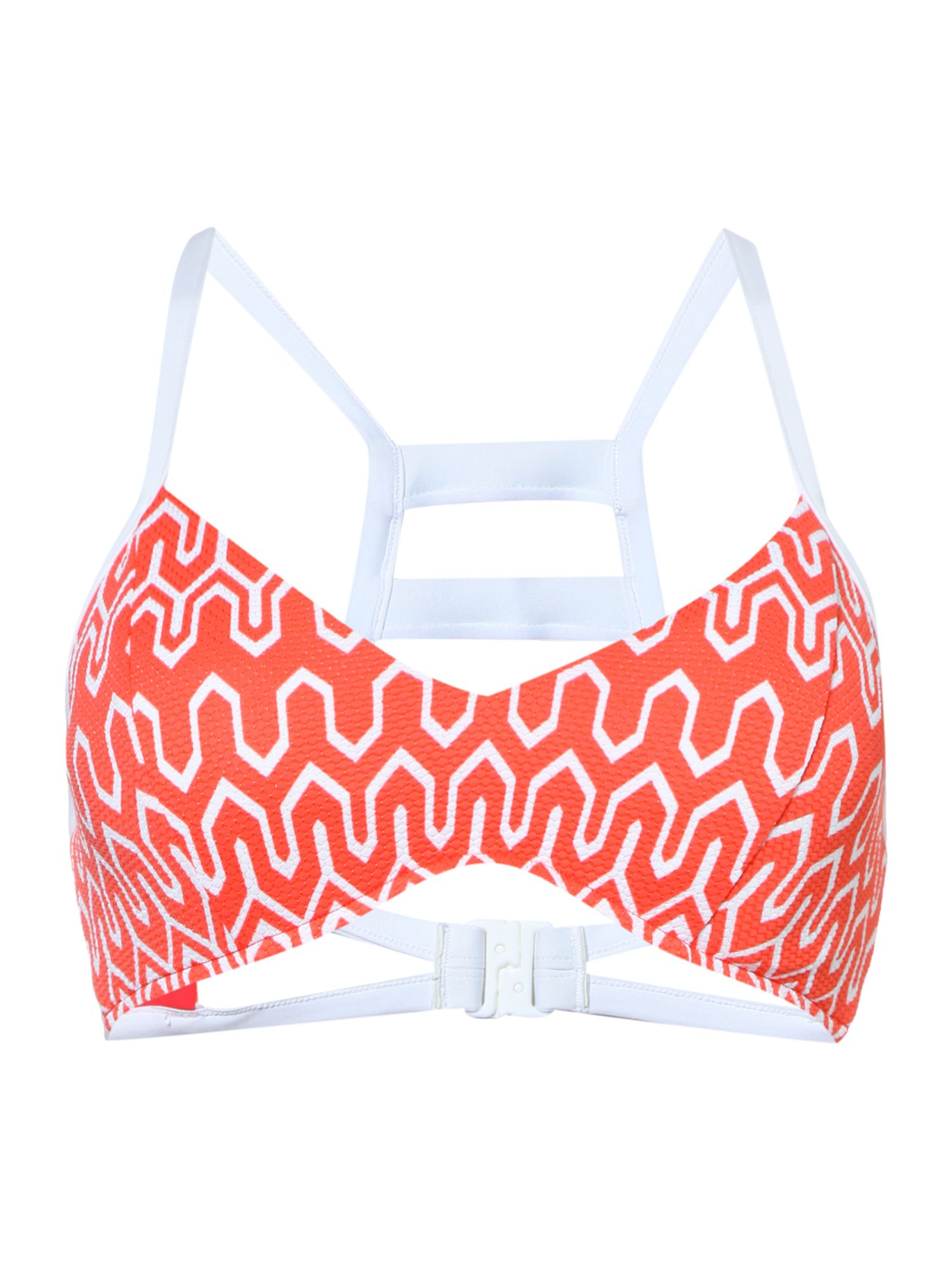 Seafolly Optic wave D-cup bikini bralette, Orange