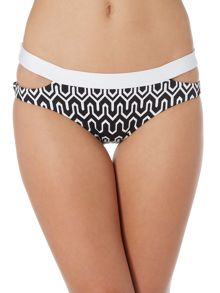 Seafolly Optic wave split band bikini hipster brief