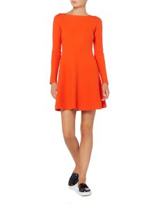 Hugo Boss Iesibell long sleeve fit and flare dress