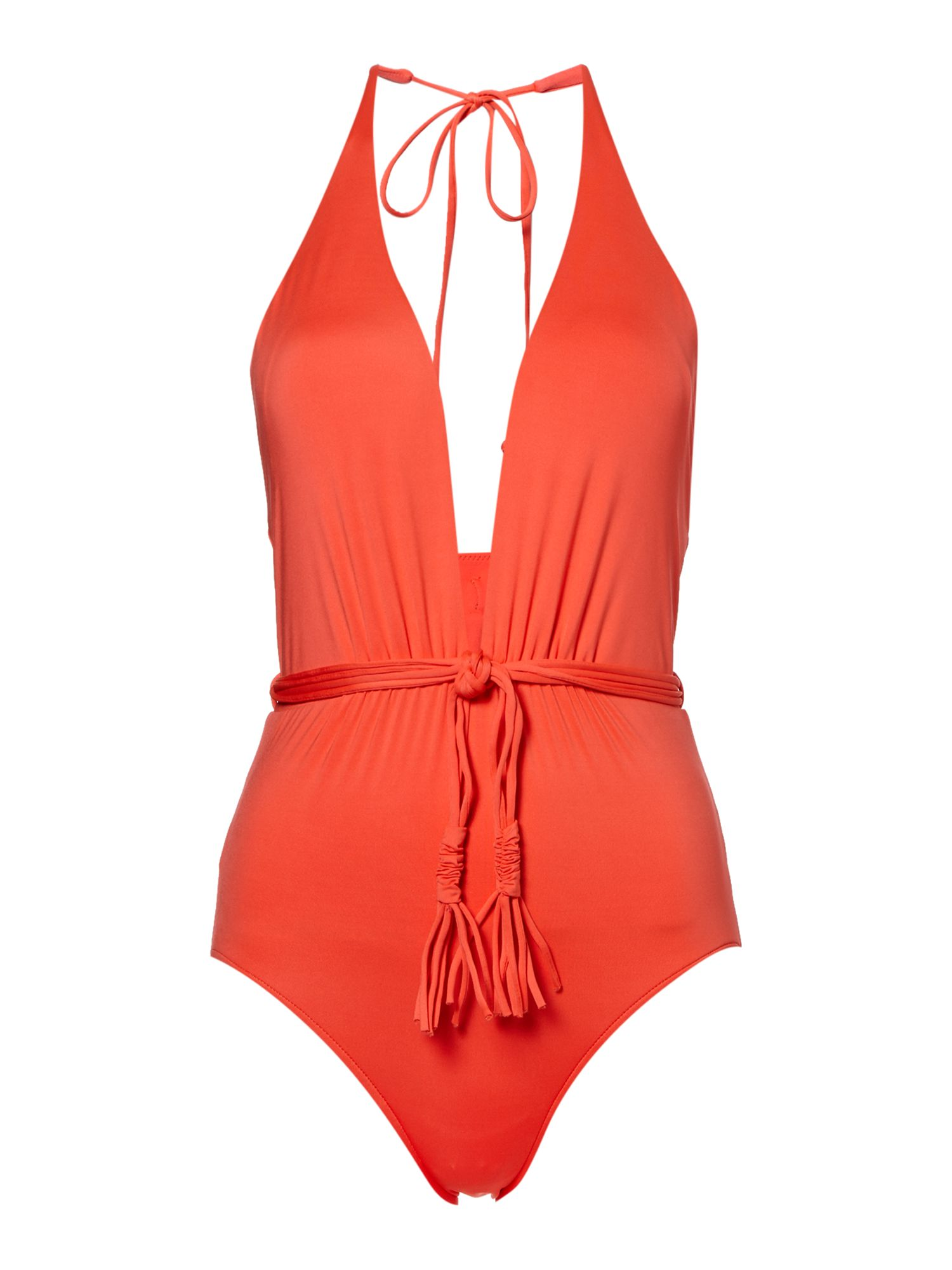 Seafolly Deep V malliot swimsuit, Orange