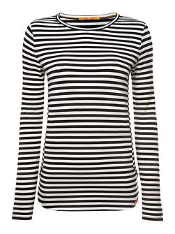 Terstripe long sleeve crewneck stripe jersey top