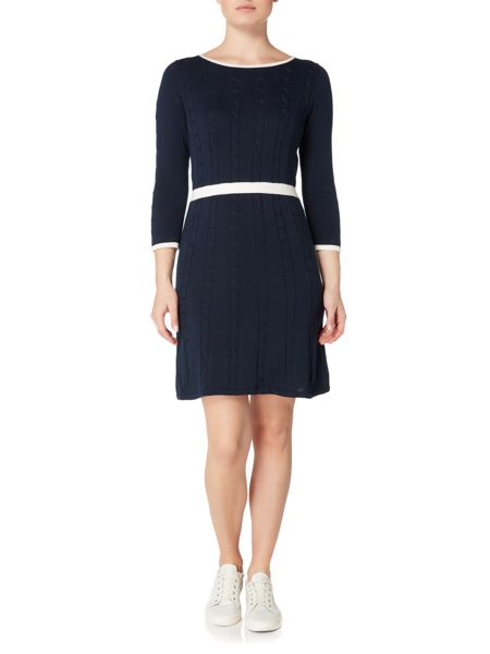 Gant Cable knit contast edging dress