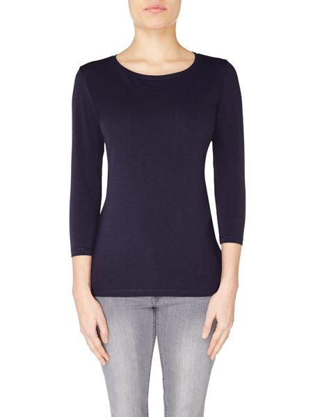 Hugo Boss Tafmous 3/4 sleeve basic jersey top
