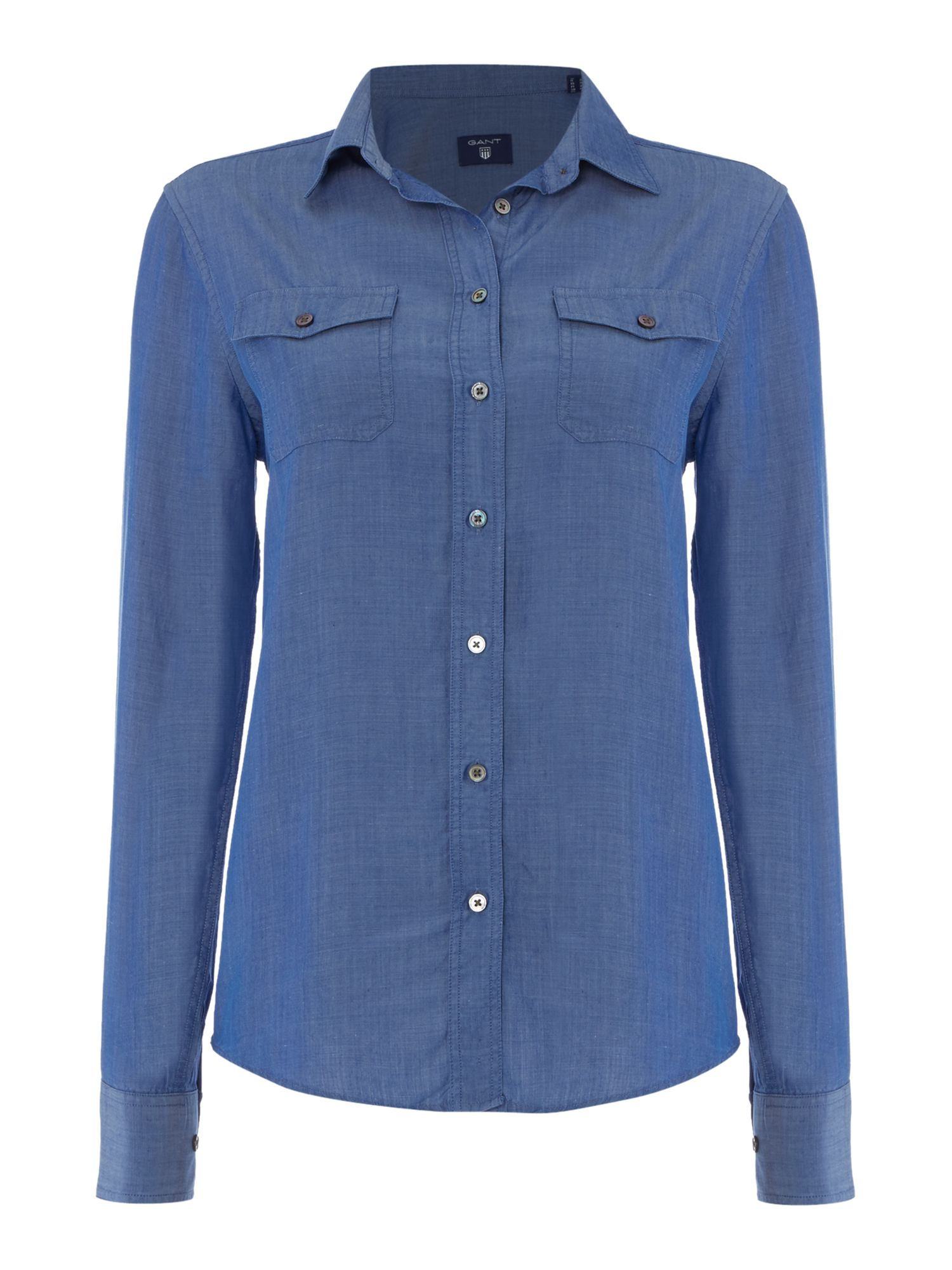 Gant Soft chambray shirt, Blue
