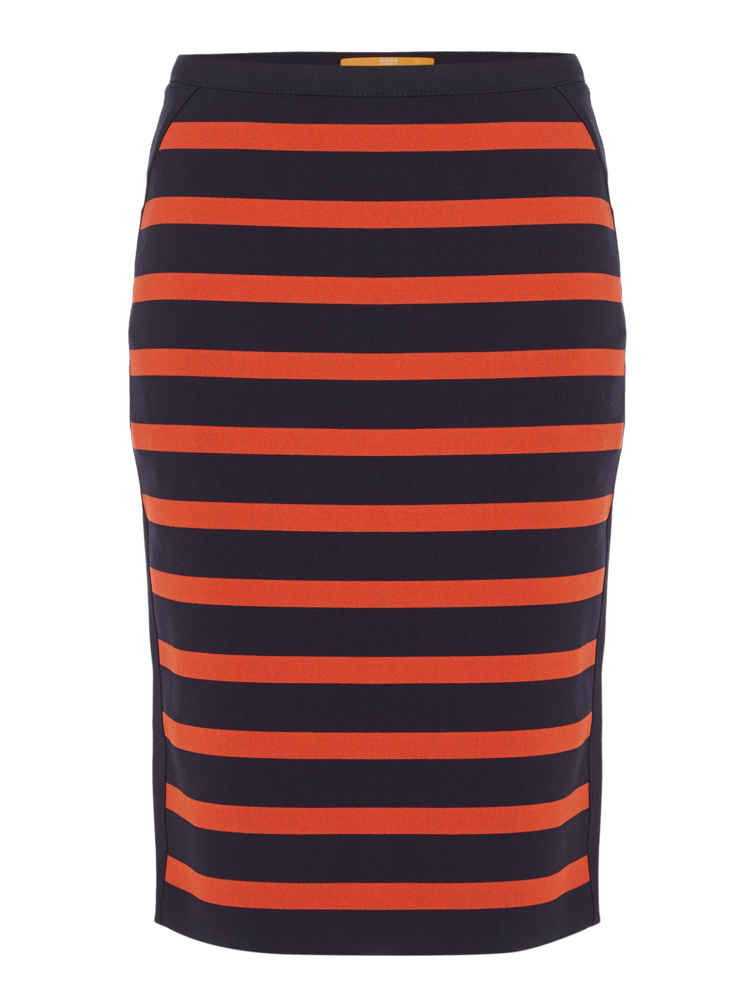 Hugo Boss Balanja stripe pencil skirt in open miscellaneous, Red